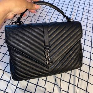 YSL COLLEGE MEDIUM IN QUILTED LEATHER